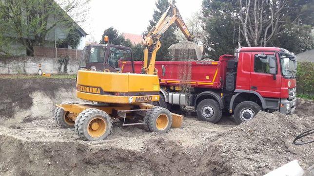 Usługi koparką ładowarką roboty ziemne wywóz gruzu ziemi wykopy ziemia