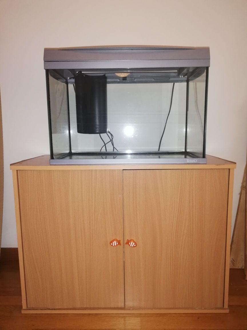 Aquário 60L com movel + aquário pequeno p/maternidade