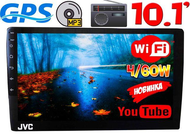 Автомагнитола JVC экран 10 2DIN, 2/16GB IPS,GPS,Android10 4x60W