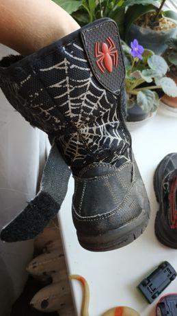 Сапоги зимние детские George Spiderman б/у размер 7 (24)