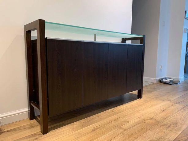 Komoda ze szklaną półką 148x38x90cm
