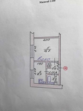 Продам 1 км квартиру малосімейного типу.власник