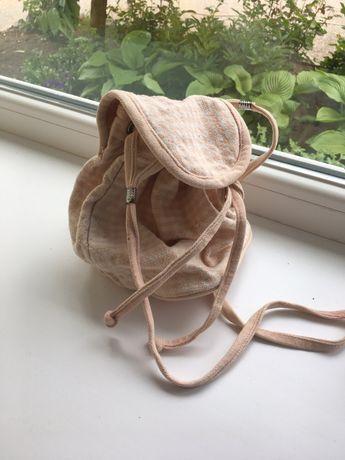 Сумка для девочки текстиль сумка мешок на длинном ремешке светлая