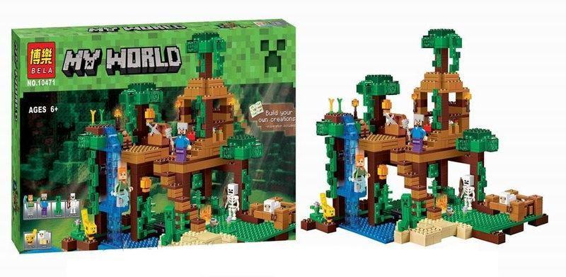 Конструктор Bela 10471 Домик на дереве в джунглях Minecraft (аналог LE Плесецкое - изображение 1