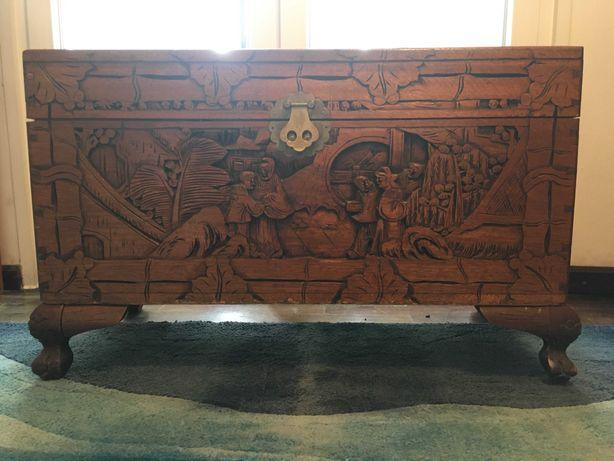 Arca/Baú vintage de madeira