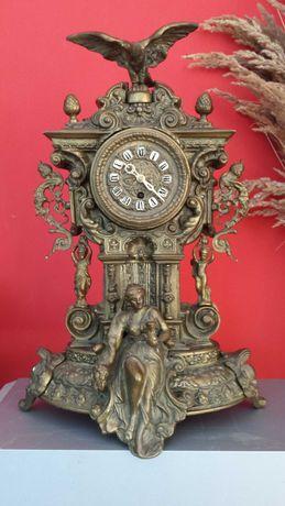Stary zegar mosiężny, 47 cm, 11 kg, po przeglądzie.