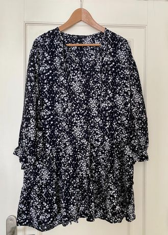 Vestido Flores Zara   Tam. L