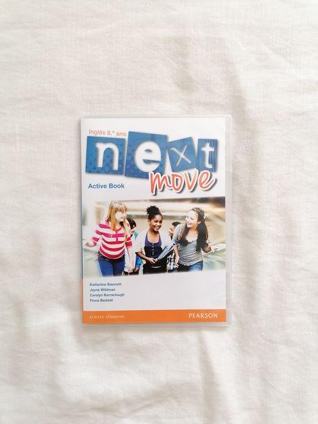 Livro Escolar de Inglês - CD Interativo - Next Move 8 - 8.° ANO
