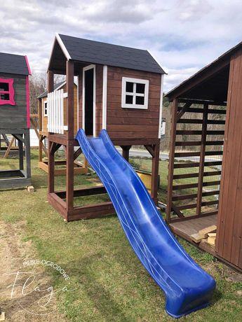 Plac zabaw, domek dla dzieci, zjeżdżalnia 3m, piaskownica PRODUCENT