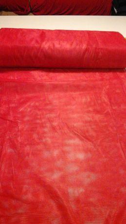 Tkanina czerwona siatka
