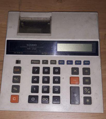 Máquina de calcular elétrica Casio , com suporte para levar rolo