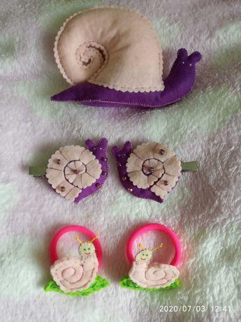 Равлик улитка фетр обруч заколка украшение декор игрушка прикраса