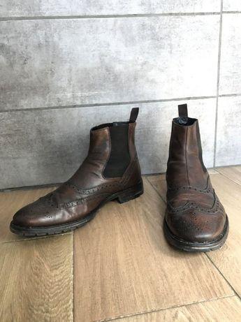 Челси Ambassador by Bata кожаные 45 р мужские туфли ботинки полуботы
