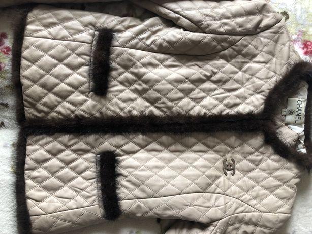 Куртка с мехом норки демисезонная