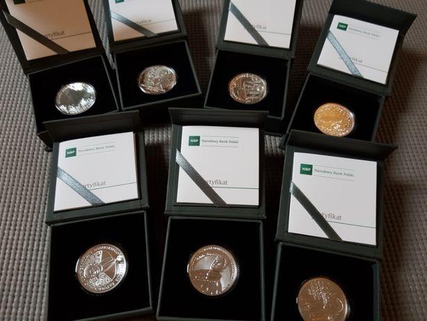 Srebrne monety 10-złotowe wydane w roku 2019