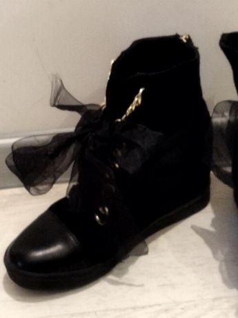 buty sneakersy na koturnie