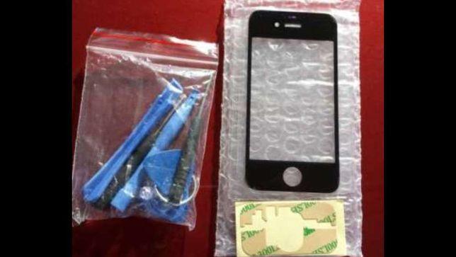 Kit reparação Vidro iphone 4, 4S, 5 e 5S