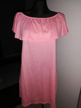 Sukienka różowa bawełniana