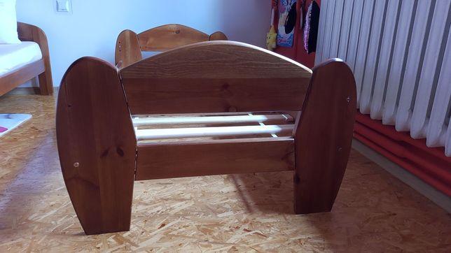 Rama łóżka dziecięcego 80x180 drewniana.