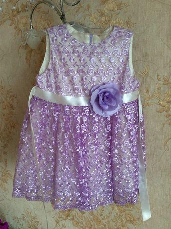 Нарядное праздничное платье на 2-5 лет