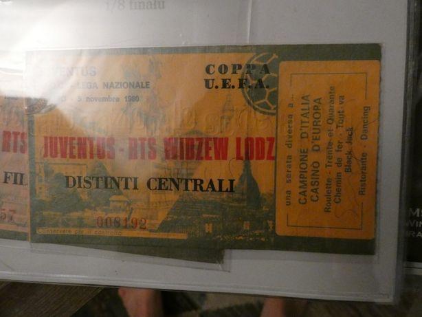 Bilet Juventus - Widzew z 1980 roku