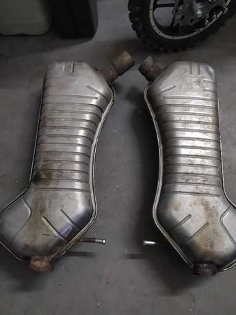 Tłumiki tłumik końcowy Audi S6 C5 V8 przerobiony silniki V8 V6 A6 S6