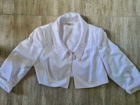 Белый укороченный пиджак