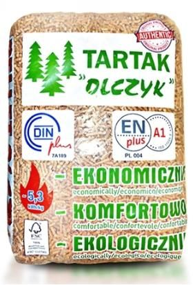 Pellet pelet drzewny Olczyk 6mm Tona . Transport gratis!