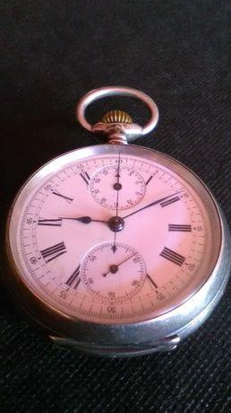 srebra-srebro 800 antyk zegarek kieszonkowy Junghans-Chronograf