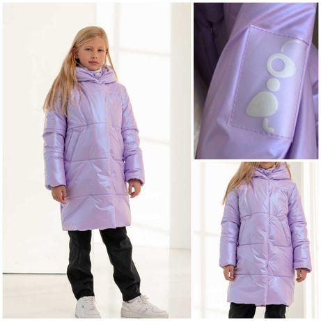 Зимний пуховик для девочки Рози тм Brilliant размеры 146- 164