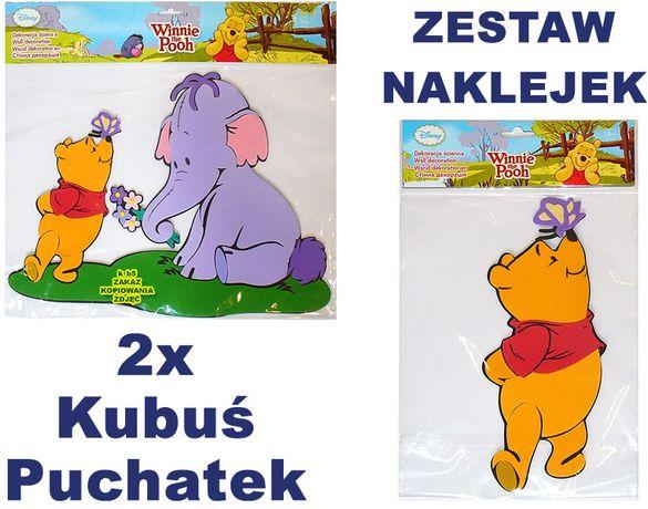 NAKLEJKI naklejka ŚCIENNA na ścianę KUBUŚ Puchatek i Hefalump Disney