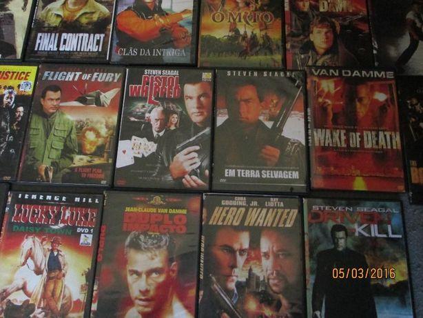 Capas plástico DVD + capas de filmes de acção