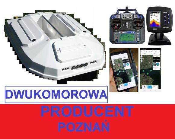 2 komorowa ŁÓDKA ZANĘTOWA premium Echosonda + GPS X /Producent Poznań