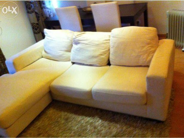 Sofa Branco lounge em tecido