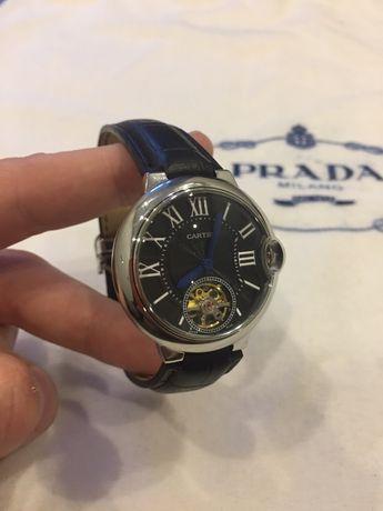 Часы Cartier/Картьер Механика/кожа СКИДКА  50%
