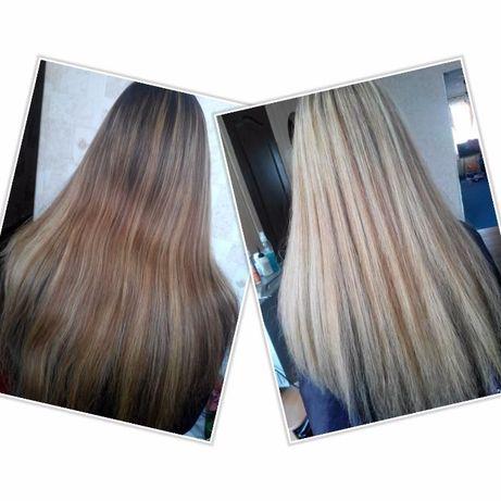 покраска и коррекция цвета волос