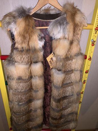 Новая жилетка лиса 90 см