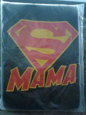 Koszulka z napisem-nadrukiem SUPER MAMA roz. S