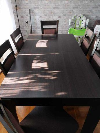 Komplet stół, krzesla i stoliczek do kawy