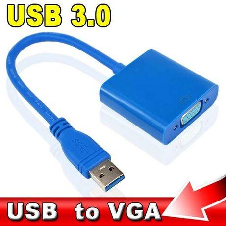 Conversor para ligar monitor PC USB 3.0 para VGA