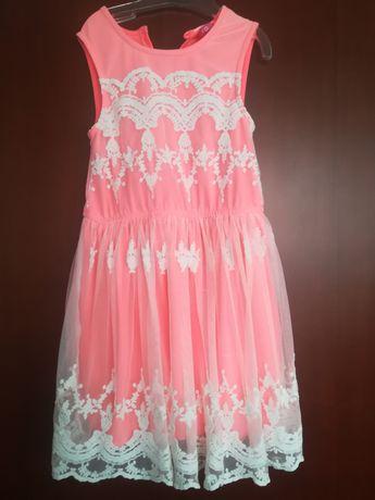 Sukienka neonowy pomarańcz