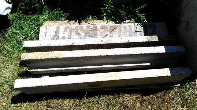 Nadproża 120 betonowe 4szt 100zł
