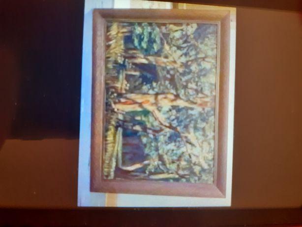 Zabytkowy obraz malowany na płótnie