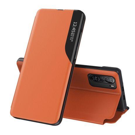 Capa Eco Leather View Elegant Bookcase Type Kickstand Xiaomi Redmi K40 Pro+ / K40 Pro / K40 / Poco F3 Laranja