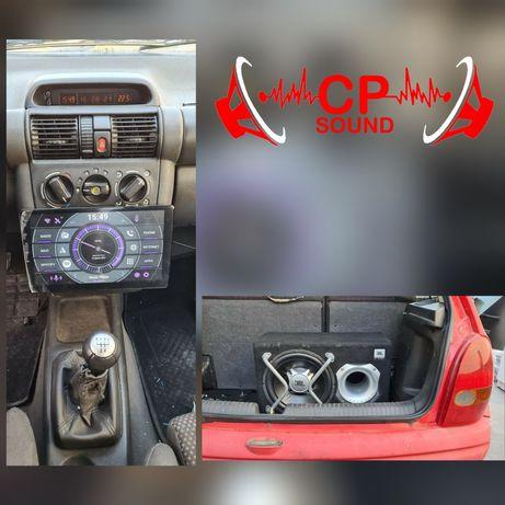 Montagem e venda som auto carro - subwoofer amplificador colunas radio