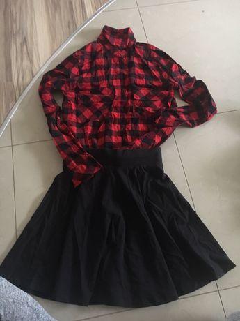 Koszula bershka spodnica h&m xs