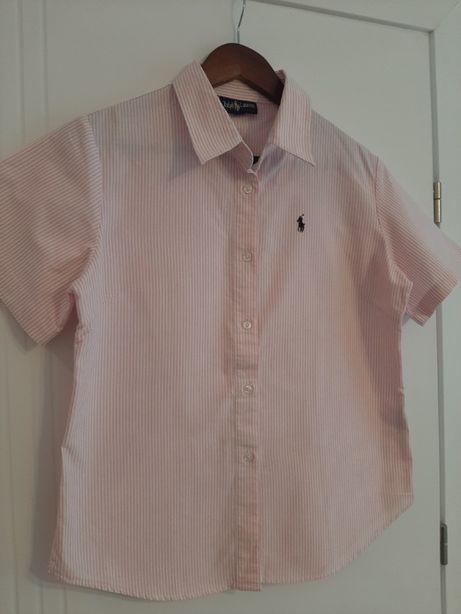 Różowa koszula w paski Ralph Lauren r XL