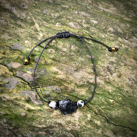 Ochronna bransoletka amulet z Turmalinem i Jaspisem