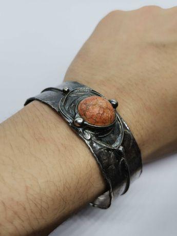 bransoletka artystyczna rękodzieło z metaloplastyki  Eremit Cu/Ag.