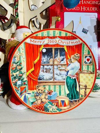 Декоративная тарелка Coalport The New Millennium Christmas, №1248